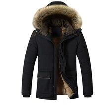Лучший!  Зимние куртки мужские 2019 новый меховой воротник куртка с капюшоном мужские толстые ветрозащитные п