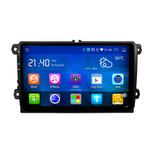 "9 ""Quad Core androide de DVD Del Coche Para VW Passat Golf MK5 MK6 Polo Touran Jetta Sharan Radio Car stereo Navi bluetooth espejo enlace"