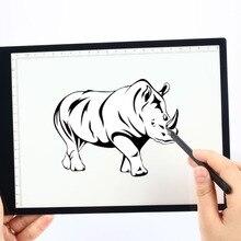 Цифровой графический планшет А4, Светодиодная доска для рисования, электронный планшет А4, копировальный стол, цифровые копировальные колодки