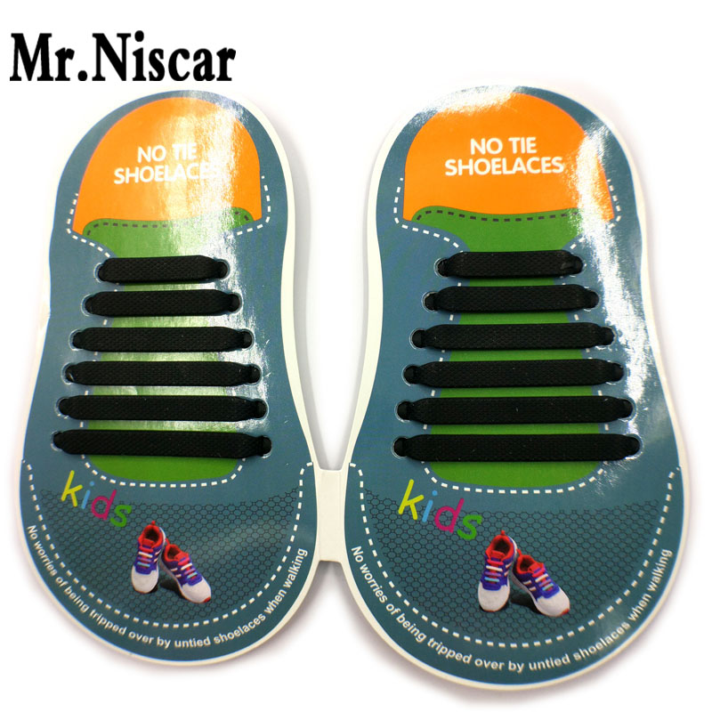 1 Set No Tie Shoelaces Kids Elastic Silicone Shoe Laces to Replace Your Shoe Strings Slip On Tieless Flat Silicon Sneakers Laces