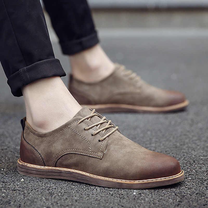 2019 luxus Marke herren Leder Schuhe Frühling Herbst Rerby Schuhe Oxfords Mode Casual Kleid Schuhe Mann Business Spitze up Non slip