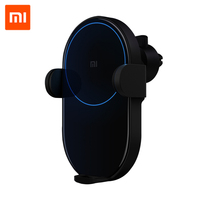 Xiaomi Car Wireless Charger Phone Holder Carregador Car Charger 20W Max Electric Auto Pinch 2.5D Glass Ring Wireless Charging
