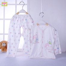 Baby underwear super slim women and baby bamboo fiber underwear set summer children's pajamas air conditioning clothes