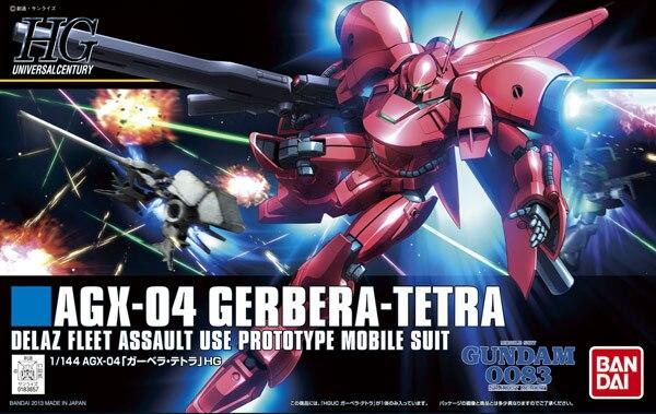 1 PCS Bandai HGUC 159 1/144 Gerbera Tetra AGX-04 Gundam Mobile Suit Assembly Model Kits Anime action figure Gunpla 1pcs bandai 1 144 hguc 058 1 144 gabthley rx 110 gundam mobile suit assembly model kits anime action figure lbx toys