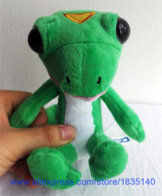 geico gecko 5 5 plush stuffed animal llizard animation game plush