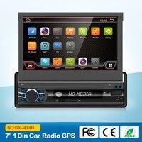 Автомагнитолы стерео аудио Радио Android 6,0 Bluetooth 1DIN 7 HD выдвижной сенсорный экран монитор радио SD FM USB камера заднего вида