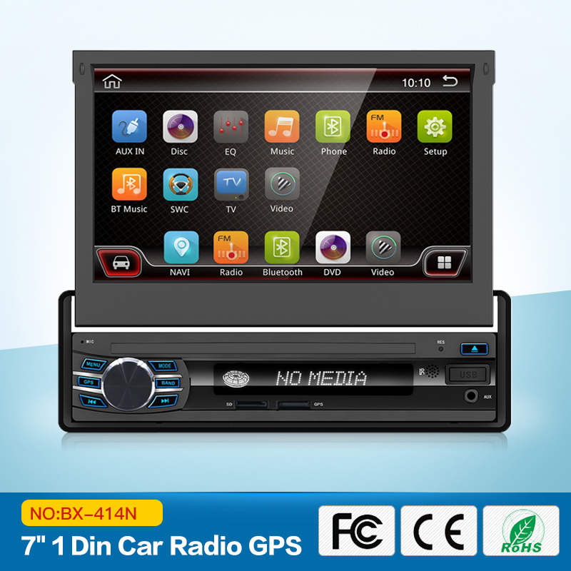 "Car Radios Stereo audio Radio Android 6.0 Bluetooth 1DIN 7"" HD Retractable Touch Screen Monitor radio SD FM USB Rear View Camera"