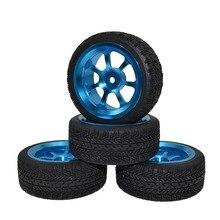 4 قطعة الألومنيوم عجلات مصنوعة من خليط معدني مع إطارات على الطريق سباق السيارات طامية TT01 TT01E TT02 HSP HPI Wltoys A959 A969 A979 1/10 RC سيارة
