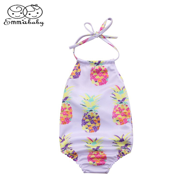 f166fb9bcb Emmababy Hawaii Cute Sumsuit Infant Kids Baby Girl pineapple Print Swimsuit  Swimwear Bikini Bathing Beachwear Outfits Summer