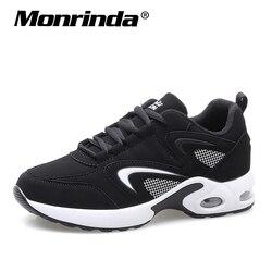 احذية النساء احذية الجري وسادة الرياضة حذاء للجيم امرأة أنيقة جلدية مريحة وحيد في الهواء الطلق المشي الأسود حذاء رياضة Mujer
