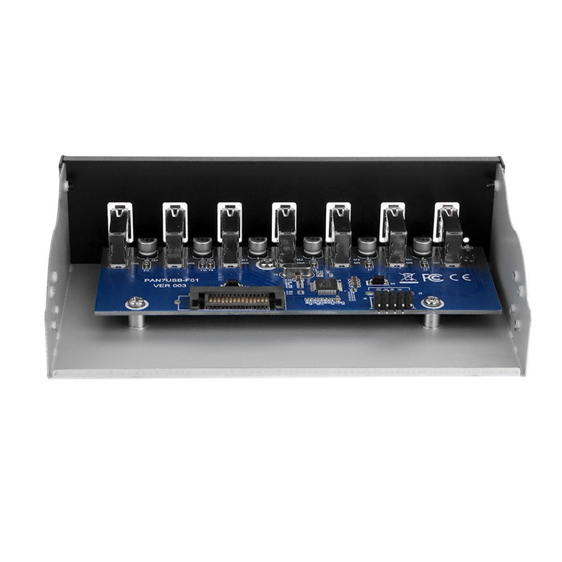 9 Pin To 7 Port USB2.0 Hub 5.25 Inch CD-Rom Drive Bay CD Rom Front Panel For PC Case