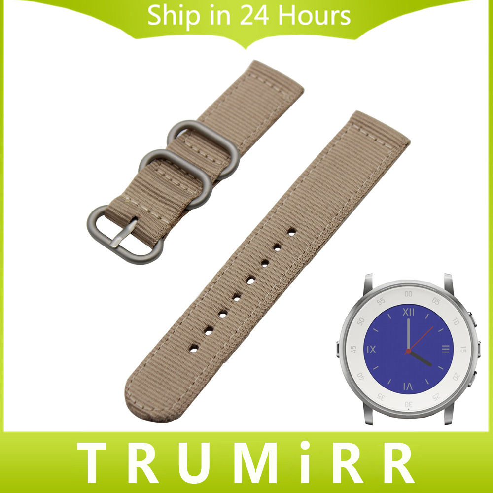 20mm Nylon Watchband Zulu Strap + Tool for Pebble Time Round 20mm Bradley Timepiece Watch Band Fabric Belt Bracelet Black Brown