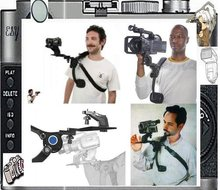 Ручная Бесплатная плечевая поддерживающая Накладка для видеокамеры HD DV DC DSLR камеры 5D 60D D3100 PT006