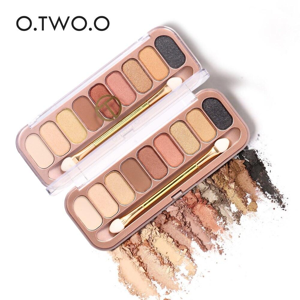 O. ZWEI. O 9 Farben Palette Lidschatten Mit Pinsel Make-Up Lidschatten Matte Make-Up Langlebige Schimmer Glamorous Smokey Lidschatten
