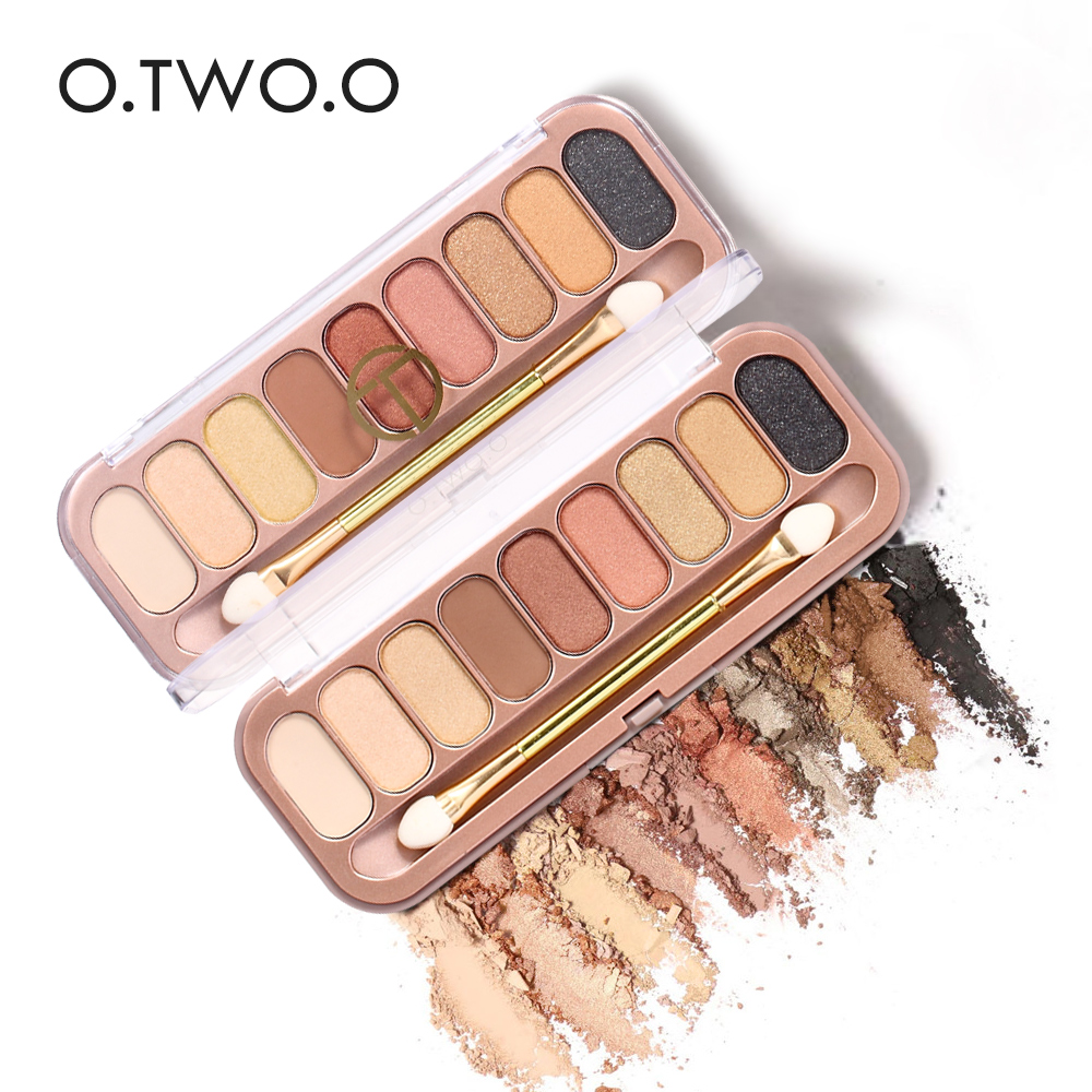 O. Два. o 9 цветов Палитры тени для век с Кисточки составляют Тени для век для Для женщин подарок для девочки