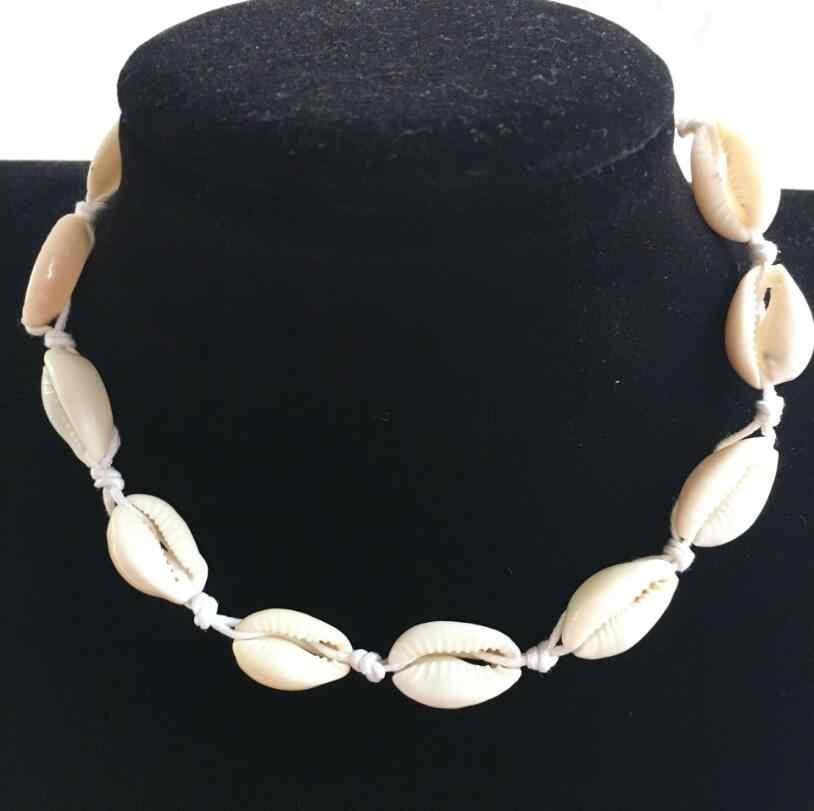 Yiustar สร้อยคอผู้หญิง Boho Sea Shells สร้อยคอสาวเชือกโซ่สร้อยข้อมือ Choker Elegant Simple เครื่องประดับของขวัญวันแม่