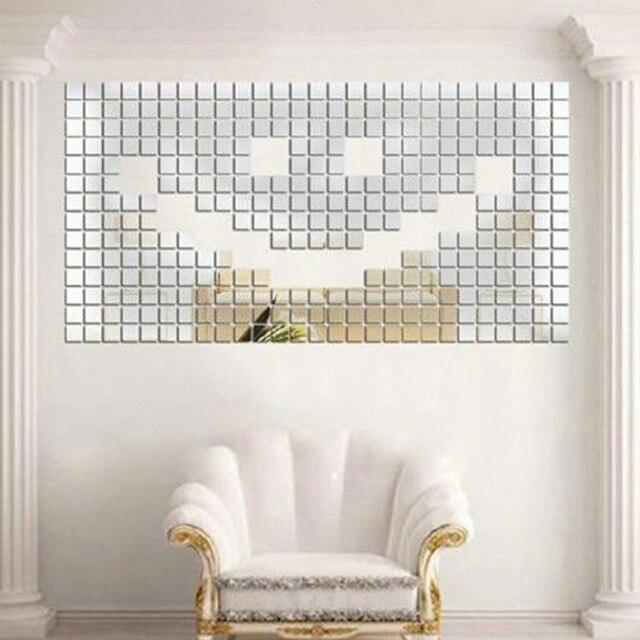 Diy Dcoration De La Maison Pice Auto Adhsif Carrelage D Miroir