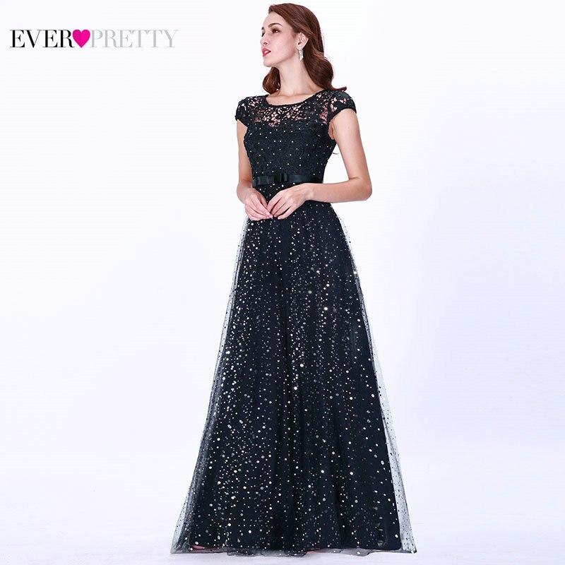 9011c34a125e0 Prom Dresses Long 2019 Ever Pretty EZ07650 Women's Elegant Navy Blue ...