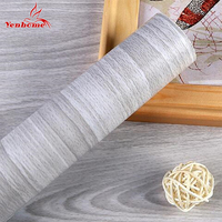 10M Roll Self Adhesive Wallpaper Wood Grain Wall Stickers Waterproof Furniture Wooden Door Wardrobe Desktop Of