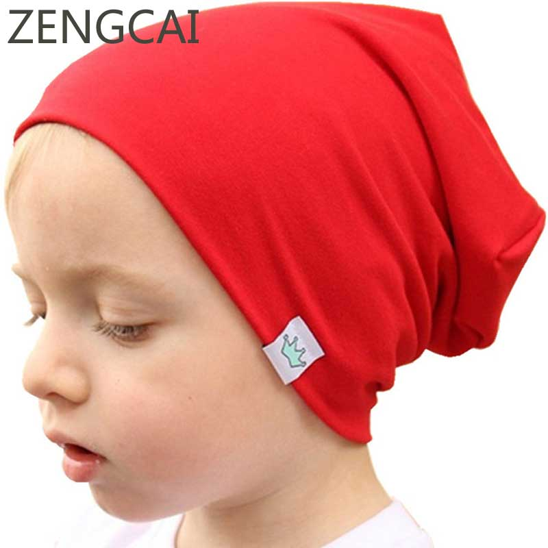 Crown Beanies Autumn Hats For Boys Girls Slouchy Beanie Baby Kids Cap  Children Spring Knitted Cotton Hat Skullies Baggy Caps-in Skullies   Beanies  from ... a2fb21f8762