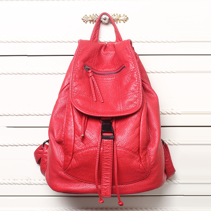 Image 2 - New Designer Washed Leather Bag High grade Leather Women 