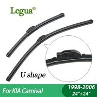 1 Set Wiper Blades For KIA Carnival 1998 2006 24 24 Car Wiper Boneless Windscreen Car