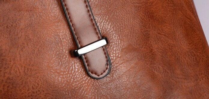 03 Sacs à dos Vintage en cuir PU
