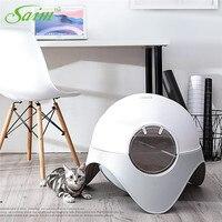 Саим Творческий закрытым кошачьих туалетов Пластик туалетов коробка кошачий Туалет дезодорации пространство Capsule животное кошачьих туале