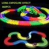 360pcs Glowing Race Car Twister Track DIY LED Flashing Light Tracking Glow In The Dark Magic