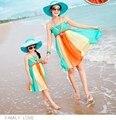 2017 areia da praia bohemain vestidos de mãe e filha roupas família correspondência roupas olhar família 052jy