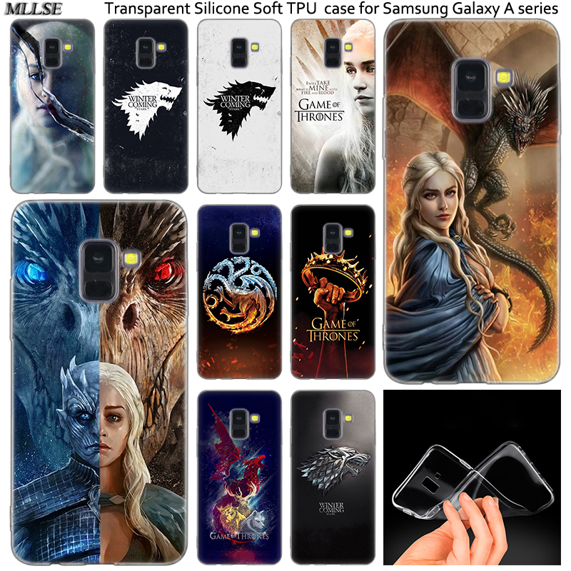Hot Game of Throne Sign Silicone Case For Samsung Galaxy A50 A30 A10 A40 A6 A8 Plus A20 E A5 A7 2018 2017 2016 Note 9 8 Cover image