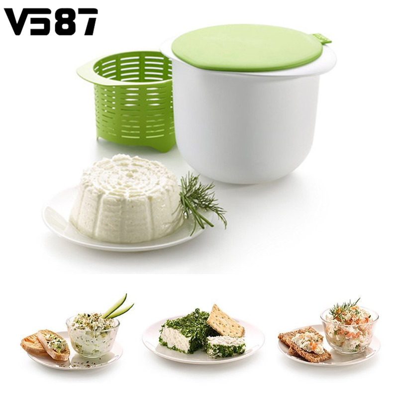 Silicone Cheese Maker Microwavable Cheese Handmade Milk Curd Maker Home Kitchen Cheese Making Tools Helper Kitchenware