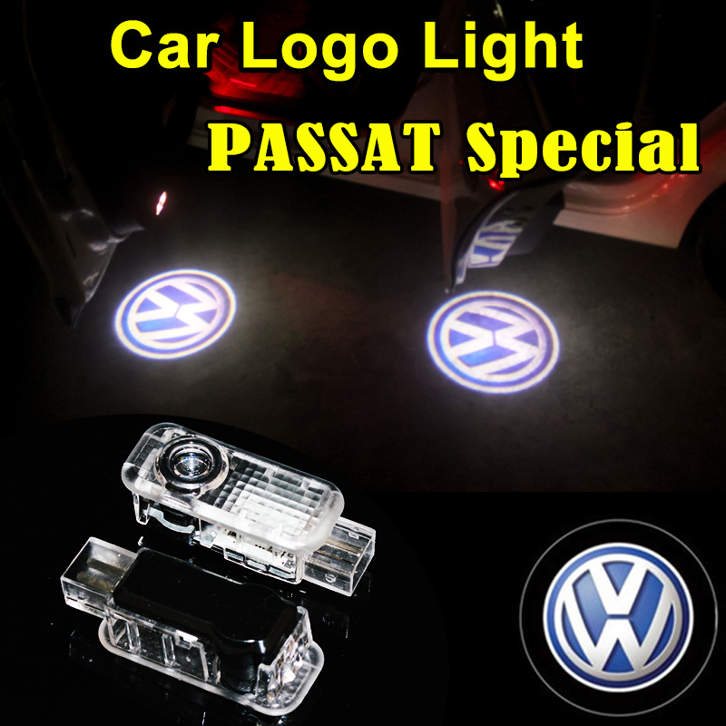 Car-Welcome-Lights Led-Door-Lamps Passat B5 Touareg Volkswagen For 2pcs VW Phaeton