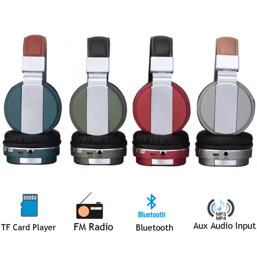Foldable Wireless Bluetooth 4.1 BT008 Headphones Metal Headset Sport Handsfree Earphone with Microphone For Smart Phone kz ed8m earphone 3 5mm jack hifi earphones in ear headphones with microphone hands free auricolare for phone auriculares sport