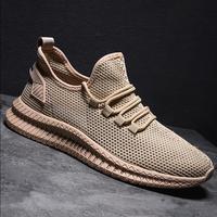 Новая Вулканизированная обувь мужская плетеная сетка повседневная обувь на шнуровке легкие удобные мужские кроссовки спортивные zapatillas ...