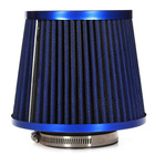 TOYL Universal Car Air Filter Vehicle Induction Kit High Power Mesh Blue Finish Sport