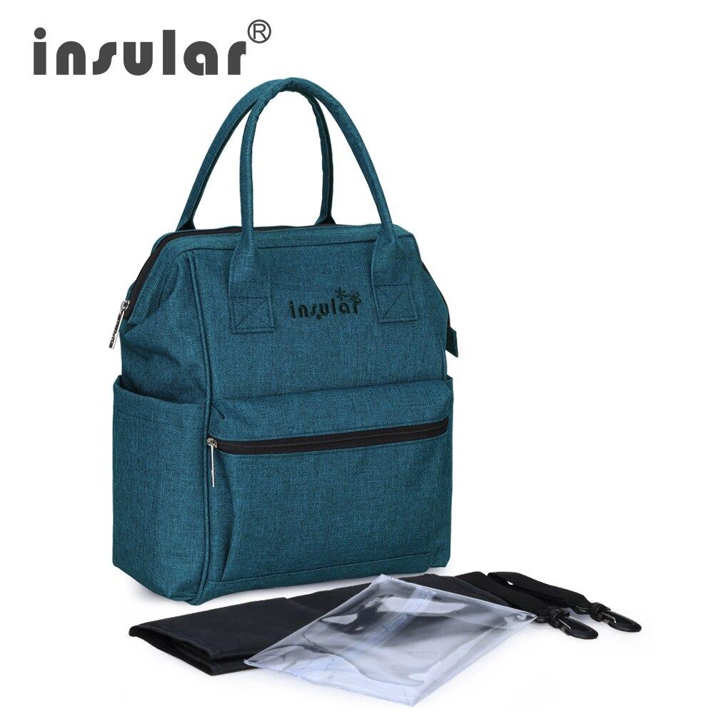 Mother Kids Baby Care Cotton Hemp Bag Mummy Maternity Diaper Nappy Bag Large Capacity Backpack Multifunctional Waterproof Bag