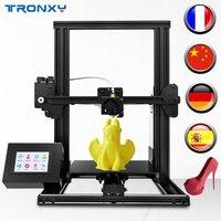 Tronxy New XY 2 3D printer Large Print Size FDM i3 printer V slot Touch Screen Continuation Print Hotbed 1.75mm PLA
