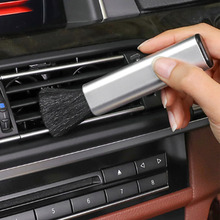 Car Auto Kit Air Outlet Cleaning Adjustable Brush For Honda Mazda kia lada Citroen Suzuki Hyundai Volvo Seat skoda Car Styling