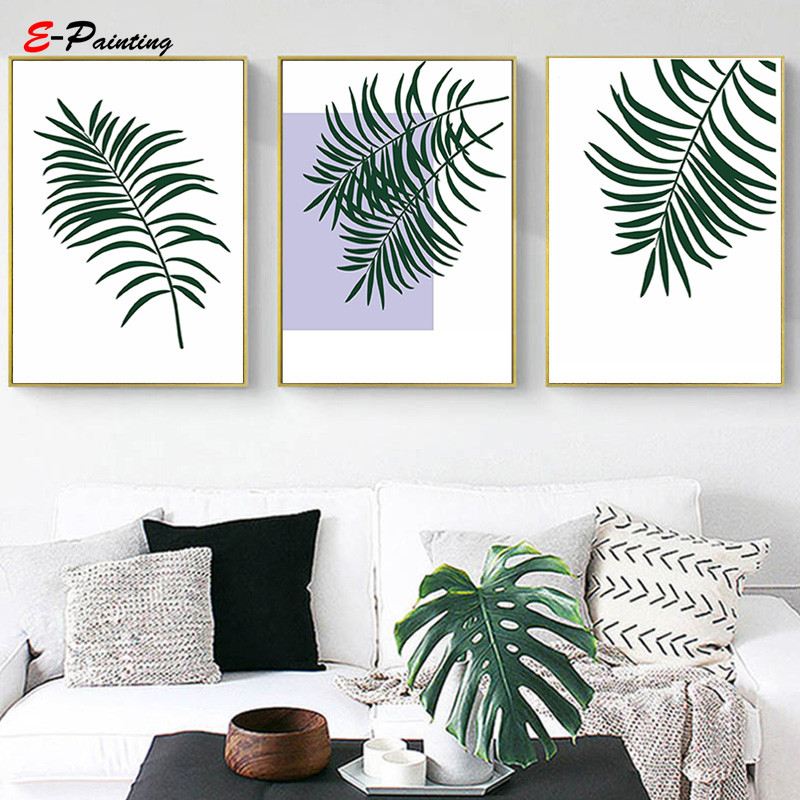 Nordic Canvas Painting Palm Tree Branches Tropical Printing Wall Art
