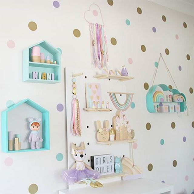 Dots Wall Stickers For Kids Room Baby Home Decoration Children Wall Decals kids wall sticker Kids Home Decor Murals Wallpaper
