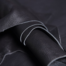 PASSION juneTree first layer cowhide soft leather thick genuine leather about 1.8 mm to 2mm black color cowhide