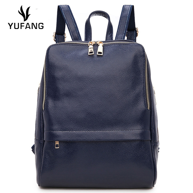 YUFANG Women Daily Bag Natural Leather Women's Backpack Brand ...