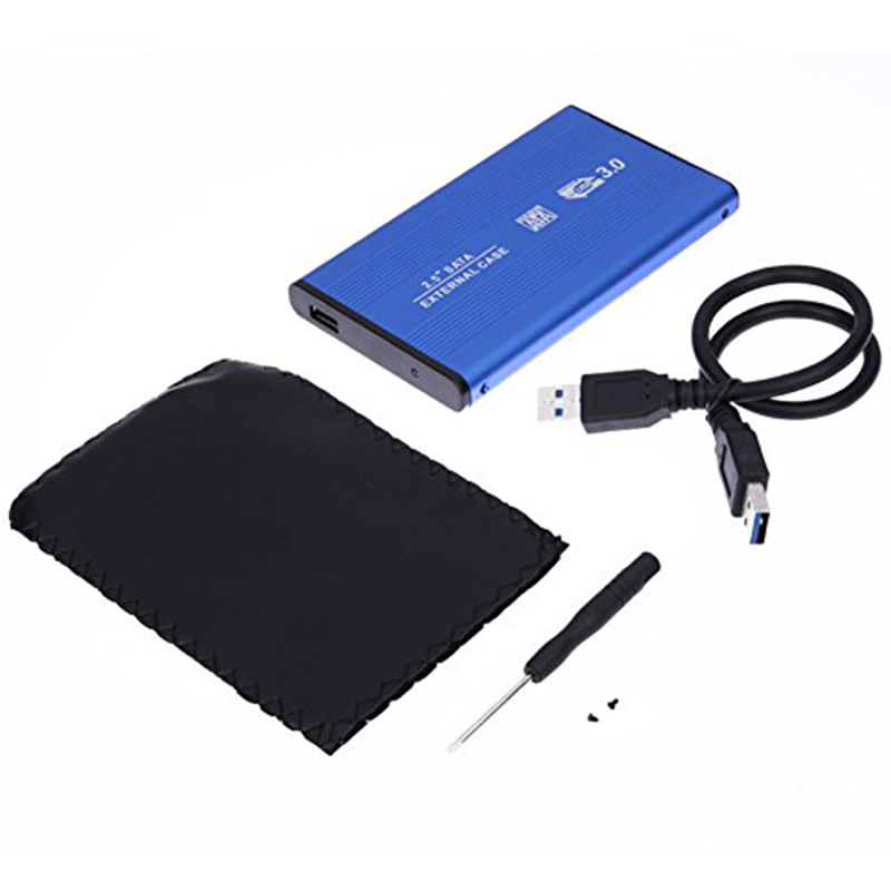 New <font><b>2.5</b></font> <font><b>Inch</b></font> Notebook <font><b>SATA</b></font> <font><b>HDD</b></font> Case To <font><b>Sata</b></font> USB 3.0 SSD HD <font><b>Hard</b></font> <font><b>Drive</b></font> Disk External Storage Enclosure <font><b>Box</b></font> With USB 3.0 Cable image