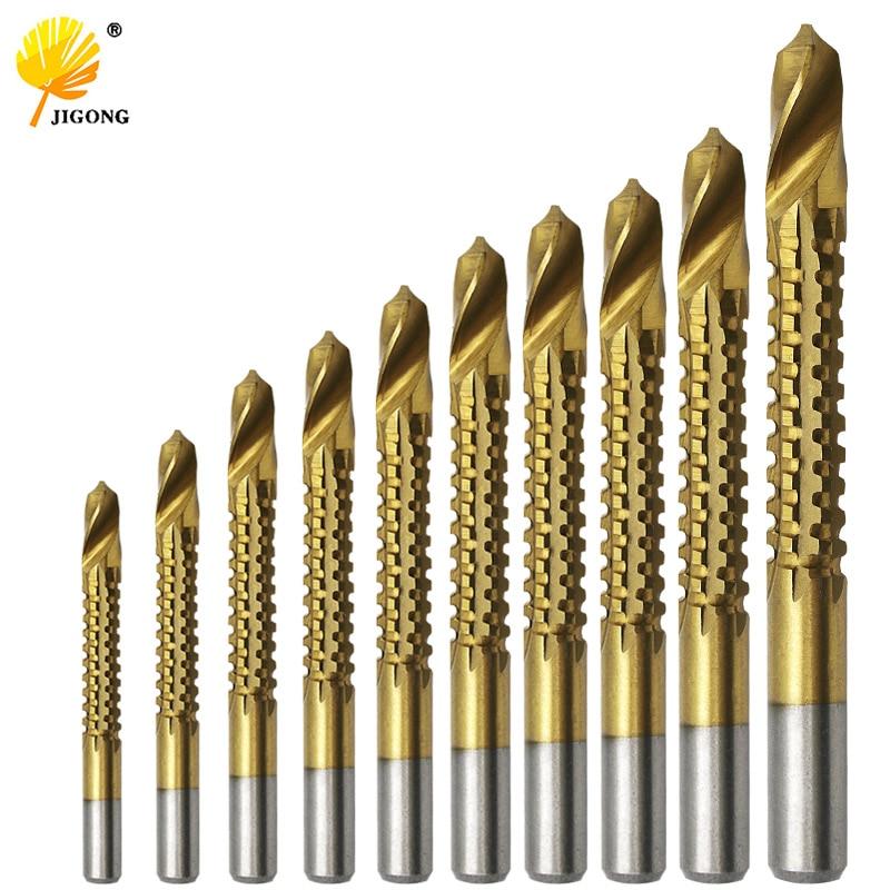 HSS Step Cone Drill Bit Set Titanium Coated Wood Drilling Hole Cutter 3mm-13mm