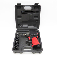 1/2 Air Impact Wrench Kit Pneumatic Twin Hammer Gun Air Tool for Compressor High Torque Square Drive Air Pneumatic Tyre Tool