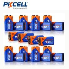 PKCELL 9 V сухая батарея 6LR61 20 шт Ультра цифровая щелочная батарея для беспроводного микрофона multimete линия измерительный инструмент