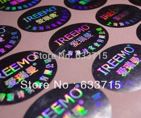 etiquetas impressas personalizadas do holograma da pomba pode ser com numero de serie design livre