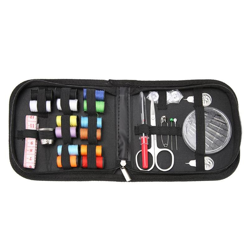 Multifunction Sewing Box Sewing Thread Stitches Knitting Needle Cloth Buttons Craft Scissor Travel Sewing Kit Portable(China)
