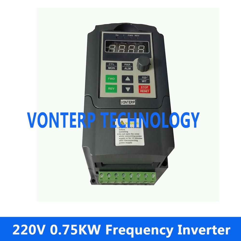 цена на 220v 0.75kw single phase adjustable variable speed drive/ frequency inverter motor control 50Hz 60Hz